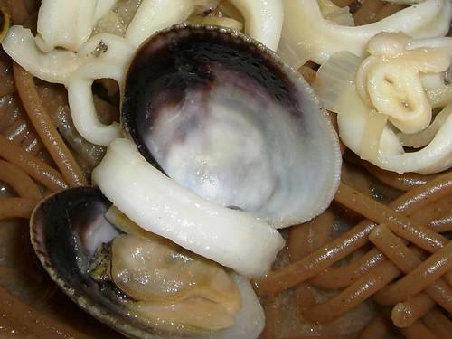 Squid & Cockle pasta