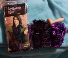 scarf kit and darning mushroom