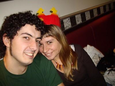 Andrew y yo en el Burger King
