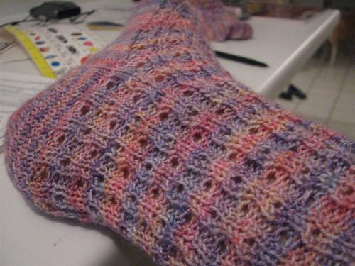 momma socks - the eyelet pattern