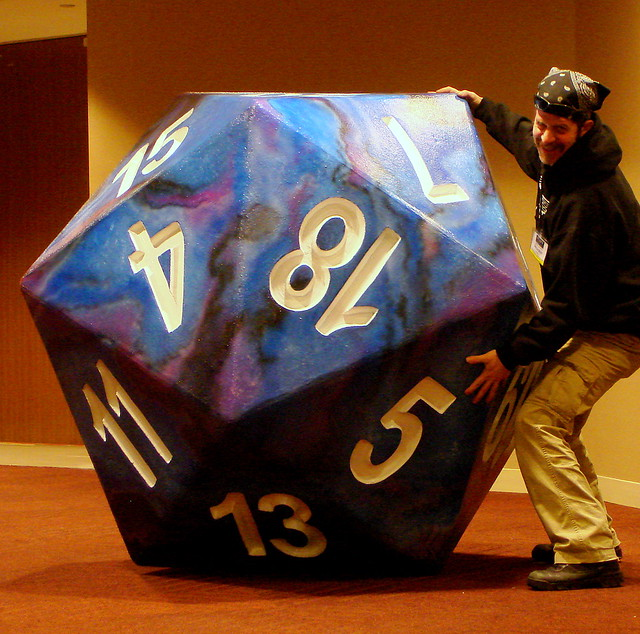 image of the biggest d20 ever