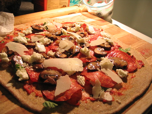 Pregrilled pizza