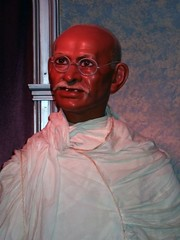 Mahatma Ghandi at the Wax Museum at Fishermen'...