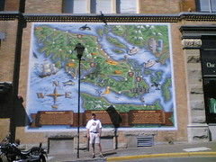 Glenn in front of a cool map in Victoria!