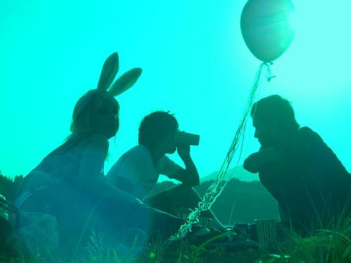 bunny green hope picnic balloon