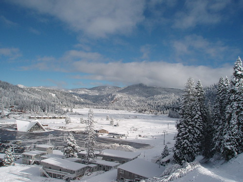Squaw Valley under a blanket of snow on Christmas Weekend 2006