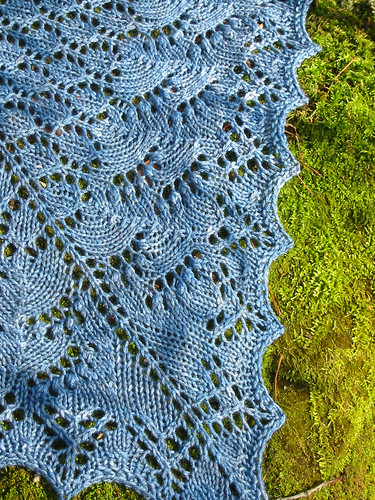 shawl on rock edge