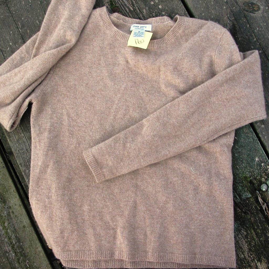 Camel crewneck cashmere  sweater