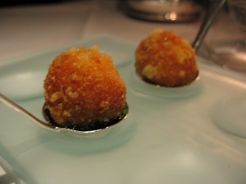 mozzarella balls at Gordon Ramsay