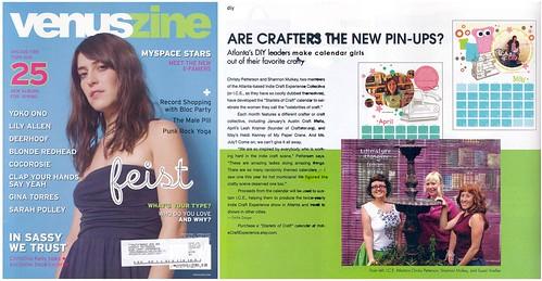 Starlets of Craft Calendar in VenusZine!
