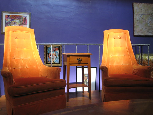 Armchairs upstairs at Zona Rosa