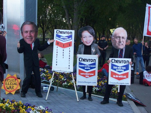 Protest Chevron Intl HQ East Bay CA