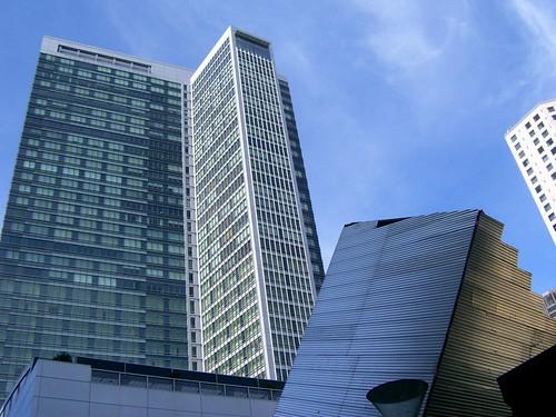 Lopsided buildings