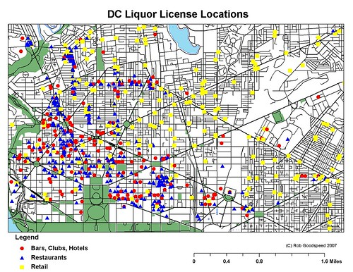 Liquor License Locations By Type