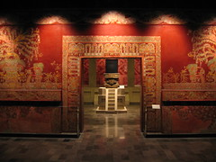 cacaxtla mural and huehuetéotl