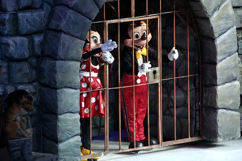 Mickey and Minnie locked up