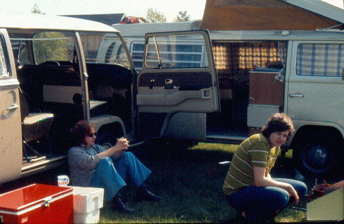 Me & Willie setting up camp -- May 1972