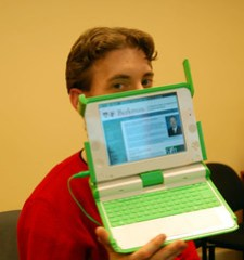 First OLPC on the Harvard network