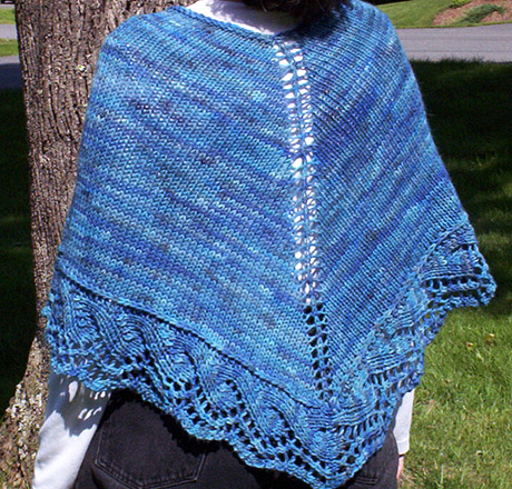 poncho with wave deging