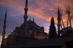 Blue Mosque at Sunset, Istanbul (March 2007)