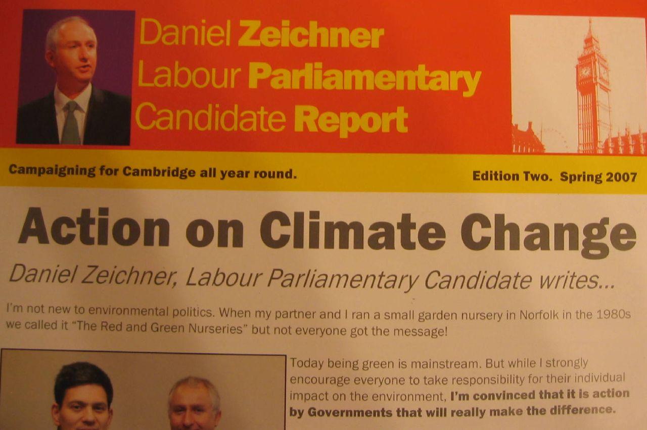 Labour Cambridge campaing against climate change