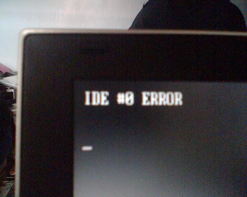 IDE #0 ERROR