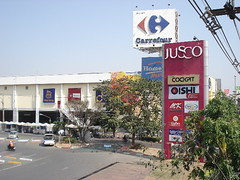Jusco and Carrefour