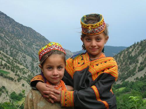 Kalash sisters - Pakistan