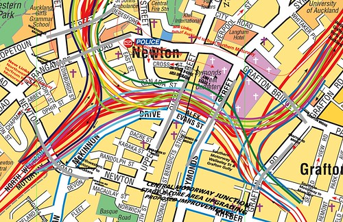 The Happiest Meal - Mapping the Auckland Spaghetti Junction