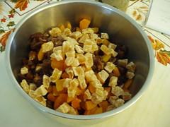 chopped dried fruit