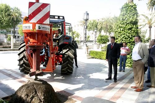 Ejemplo de destoconadora del Ayuntamiento de Sevilla