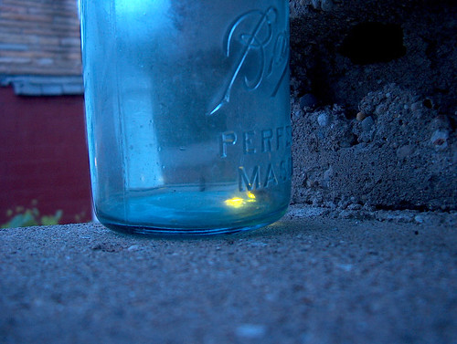 fireflies in a jar by jamelah.