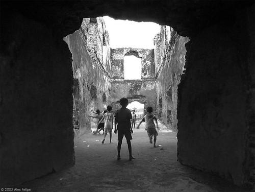 The ruins of the royal Water Palace in Yogya.