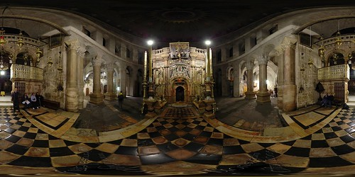 Church of the Holy Sepuchre - Tomb of Jesus - Jerusalem, Old City - 360°