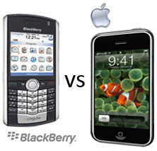 blackberry vs. iphone