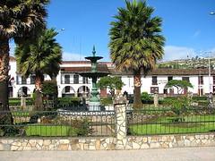Detalle de la plaza de armas de Chachapoyas
