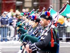 Gaiteros en el desfile de San Patricio de Nueva York