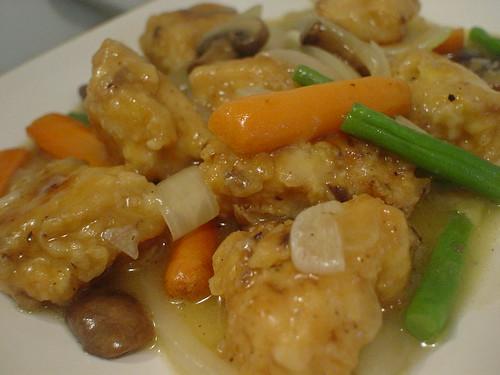 ayam cah jamur