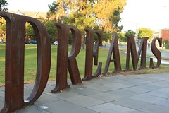 "Dreams, Dream, Dreaming, Dreamer, What Dreams May Come, Everyone from Adelaide should know this location. For those that do not, it is one of four large words ""THE FOREST OF DREAMS"" in Hurtle Square, Adelaide CBD."