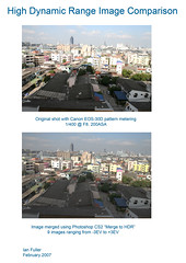 High Dynamic Range Image Comparison