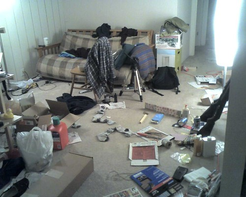 messy apartment by ryochiji, on Flickr