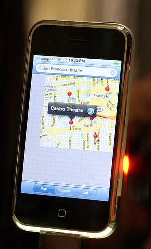 Google Maps on Apple iPhone by niallkennedy, on Flickr
