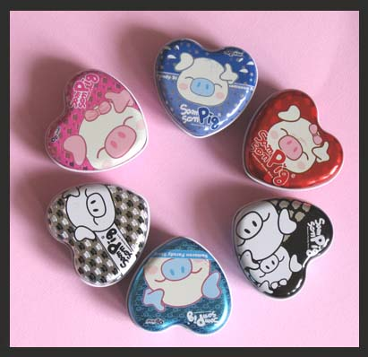 Piggy Heart tins