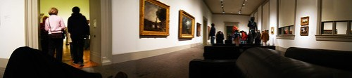 Panorama view of sitting in the St. Louis Art Museum