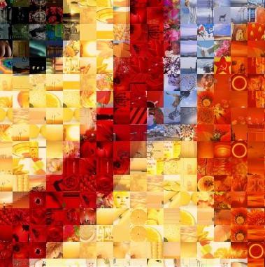 owl mosaic closeup