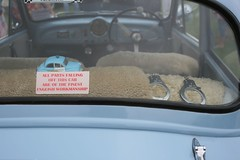Classic British Car Rear Window