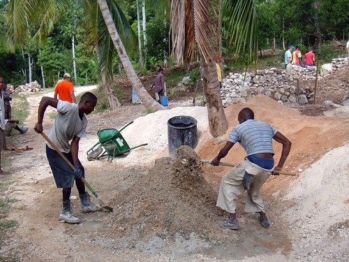 Making Cement By Hand (or Shovel)