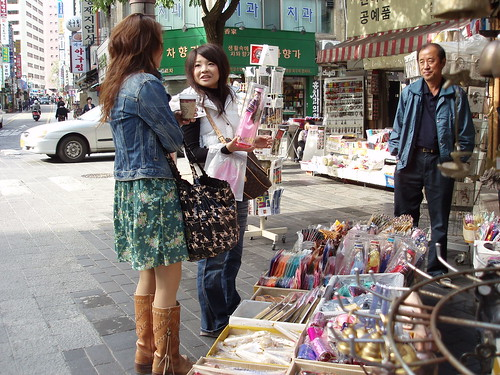 fashionista shopping in itaewon