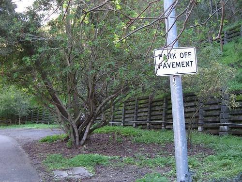 park off pavement