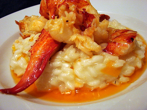 butter poached lobster meyer lemon risotto